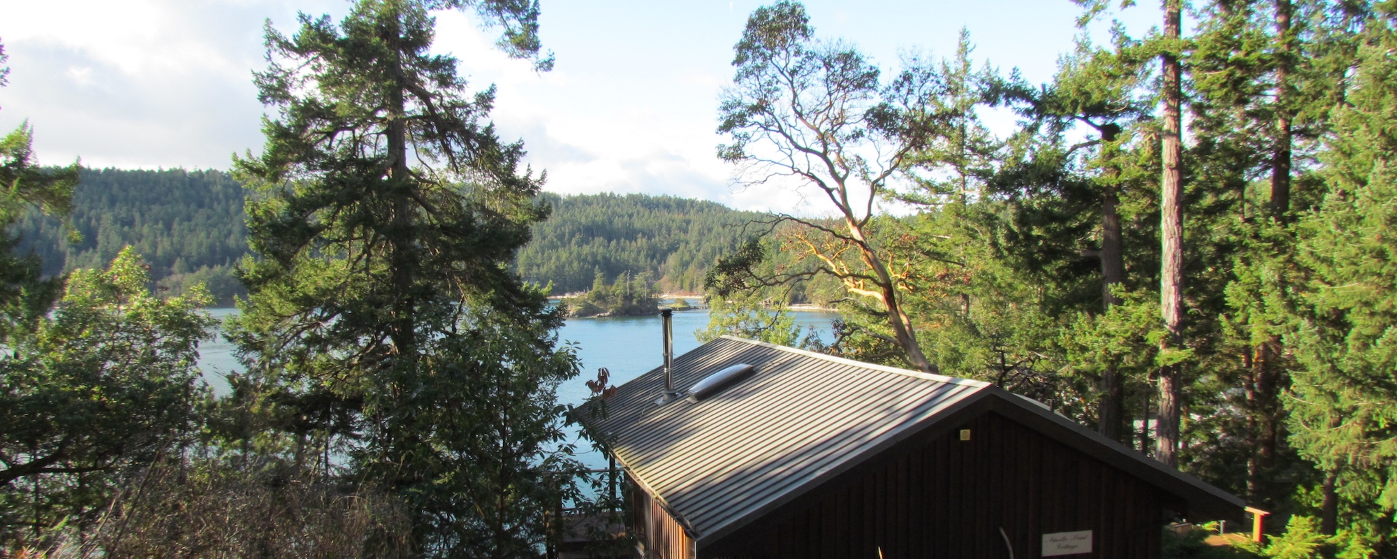 Ainslie Point Cottage vacation rental with ocean views on Pender Island