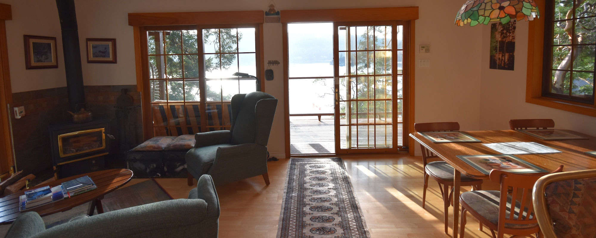 Ainslie Point Cottage vacation rental with with ocean views on Pender Island