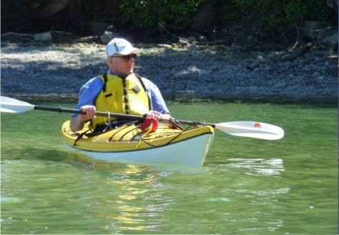 Kayaking on Pender Island close to Ainslie Point Cottage | Vacation Rental on Pender Island
