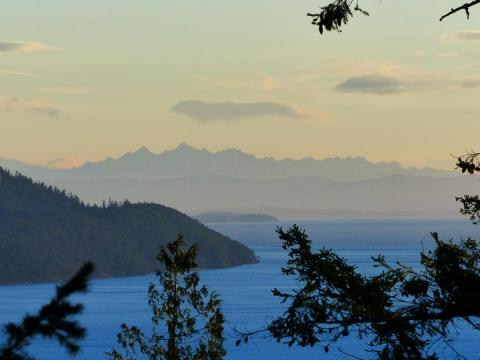Pender Island view from up the mountain